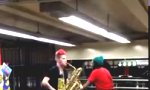 Drum ´n Sax in der U-Bahn